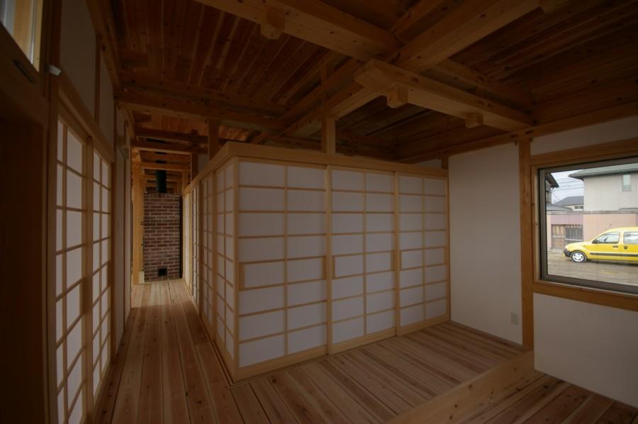 飯道山を望む家19
