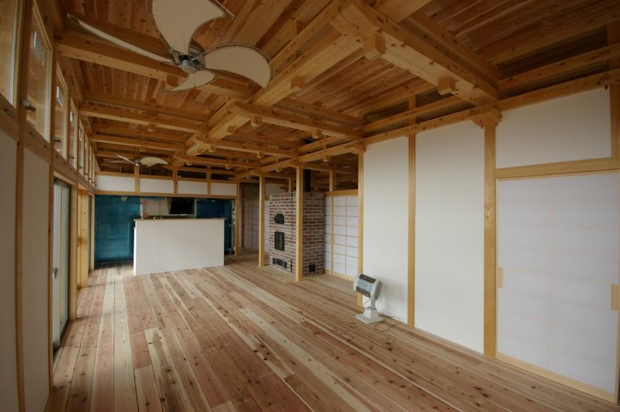飯道山を望む家15